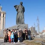 У памятника Шевченко в Москве